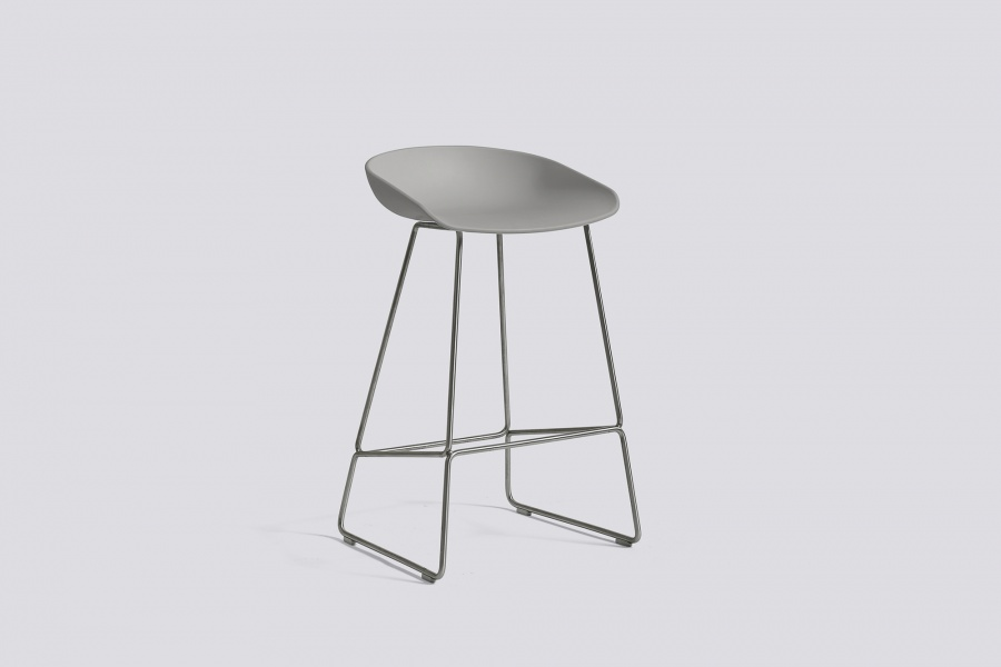 Hay 64cm Concrete Grey Steel Aas 38 About A Stool