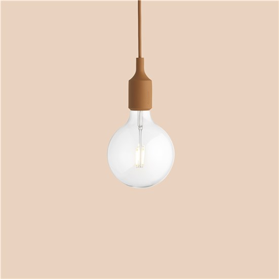 Muuto E 27 Lamp, Clay Brown (Led) Taklampe