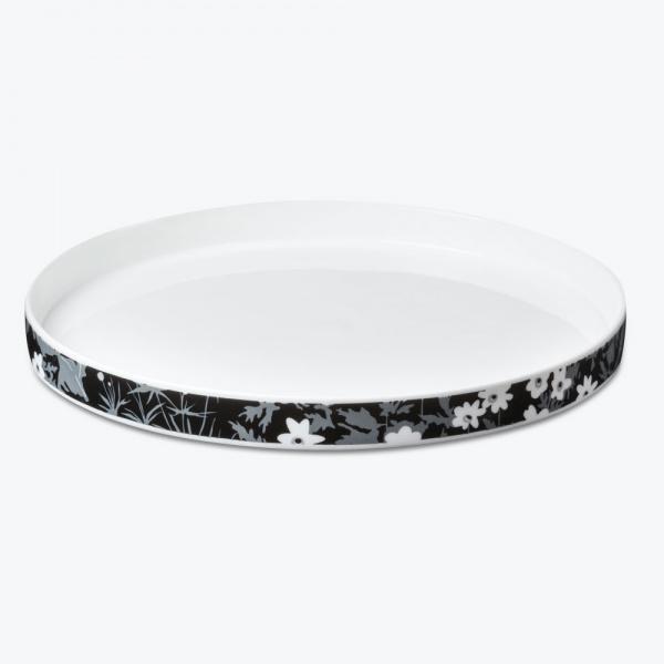 Design Letters Flower Porcelain dinner plate, Design Letters