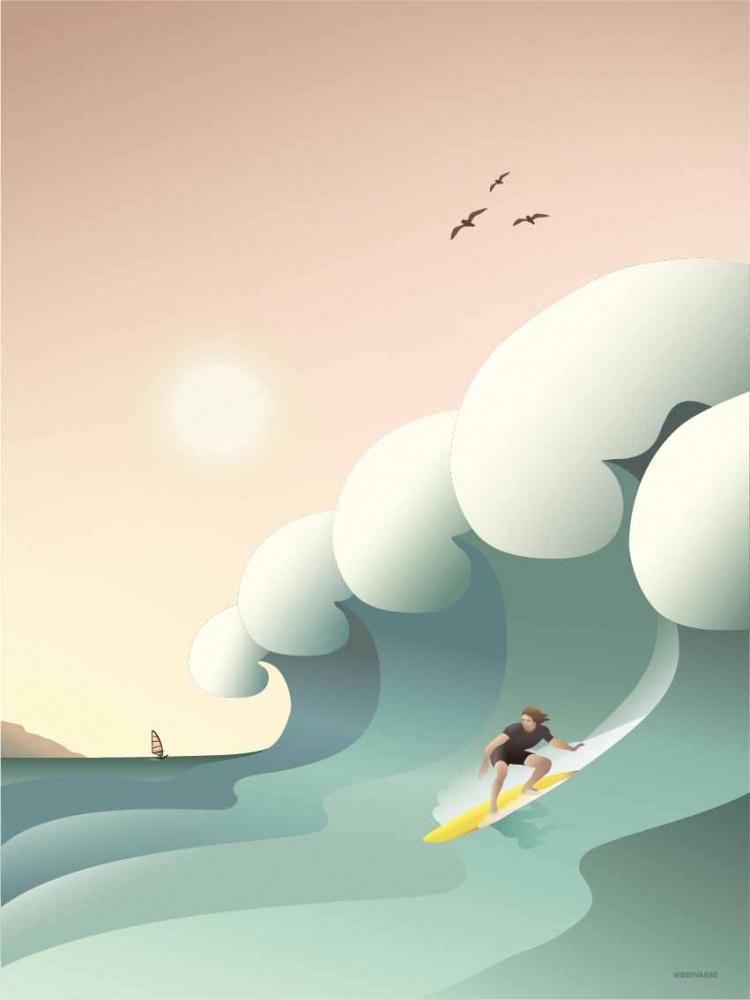 Vissevasse Surfer Kort 15x21cm Interior24 Trygg Handel
