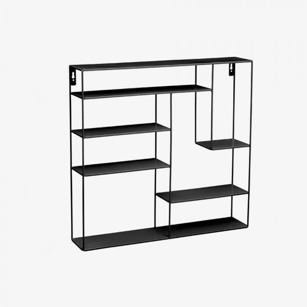 Bruka Design Bruka 60x60x12 Labyrint Hylle Svart