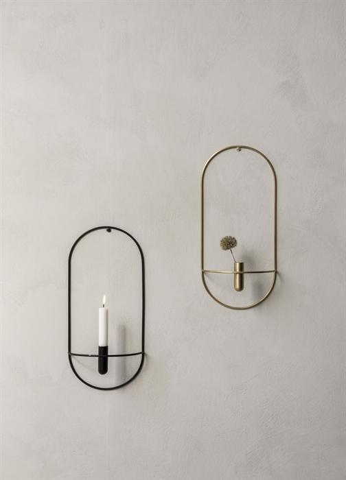 Wonderful Menu POV Oval Lysholder/Vase, Black - Interiør24 trygg handel HE-21