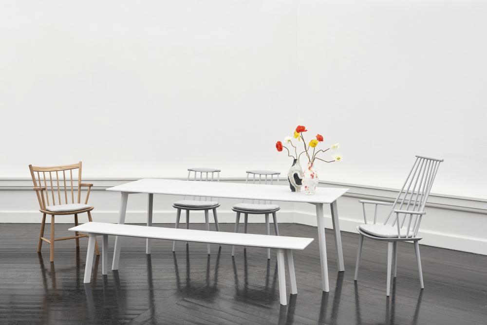 Hay Cph Deux 210 (140 cm) hvite benhvit topp, spisebord