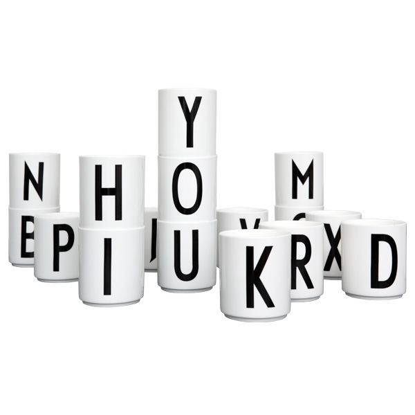 Glimrende Porselen Kopp A-Z, Æ, Ø Design Letters - Interiør24 trygg handel IP-27