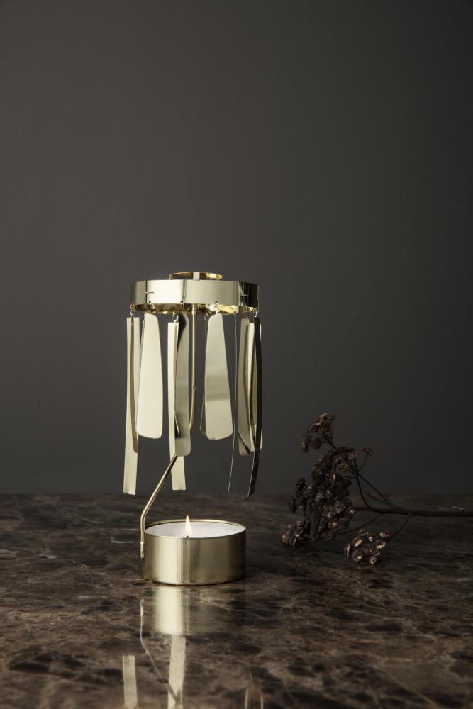 Alle nye Ferm Living Tangle Spinning Tealight, Gold - Interiør24 trygg handel OL-93