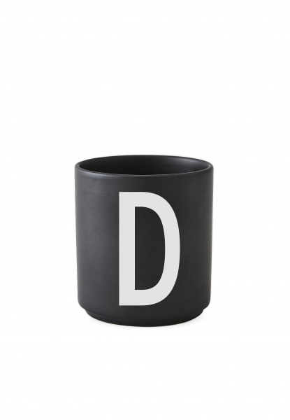 Fantastisk Design Letters Black Porselen Kopp A-Z - Interiør24 trygg handel JP-36